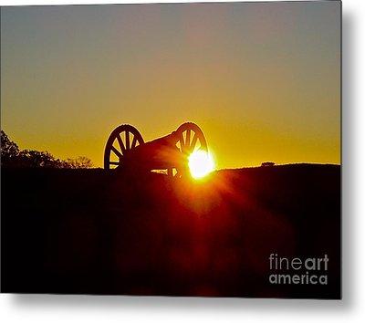 Sunrise Cannon Metal Print by E Robert Dee