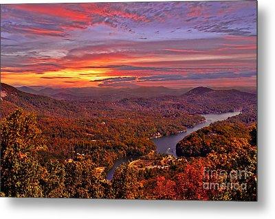 Sunrise From Chimney Rock Metal Print by Jeff McJunkin