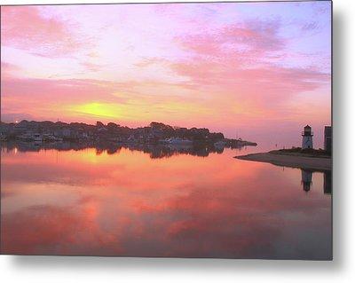 Sunrise Hyannis Harbor Metal Print by Roupen  Baker