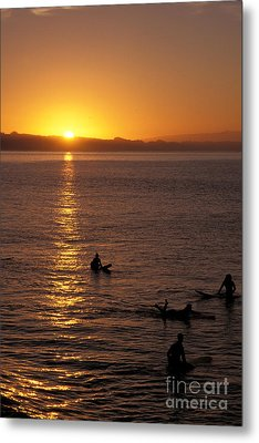 Sunrise In Capitola Metal Print by Stan and Anne Foster