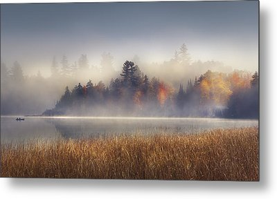 Sunrise In Lake Placid  Metal Print by Magda  Bognar