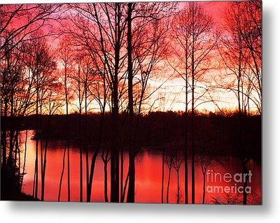 Sunrise Lake Norman North Carolina Metal Print by Kim Fearheiley
