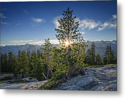 Sunrise On Sentinel Dome Metal Print by Rick Berk