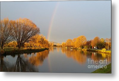 Sunrise On The Avon River  Metal Print by Joyce Woodhouse