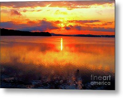Sunrise Over Chickamauga Metal Print by Geraldine DeBoer