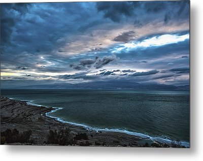 Sunrise Over The Dead Sea Israel Metal Print by Reynold Maines