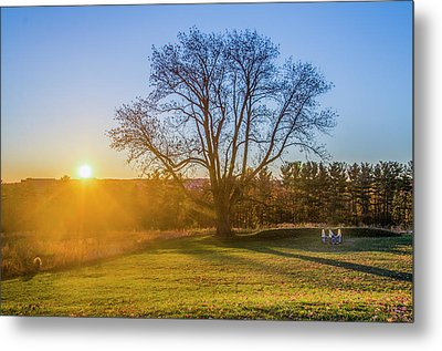 Sunrise - Valley Forge Park Metal Print by Bill Cannon
