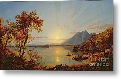 Sunset - Lake George Metal Print by Jasper Francis Cropsey