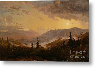 Sunset After A Storm In The Catskill Mountains Metal Print by Jasper Francis Cropsey