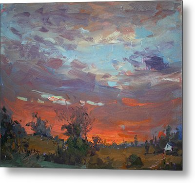 Sunset After Thunderstorm Metal Print by Ylli Haruni