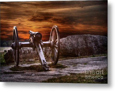Sunset At Gettysburg Metal Print by Randy Steele