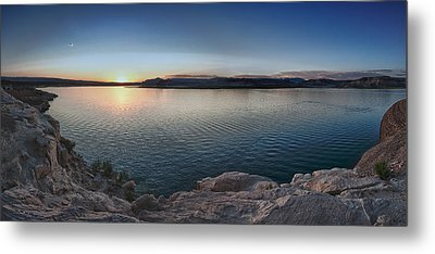 Sunset At Lake Powell Metal Print by Andreas Freund