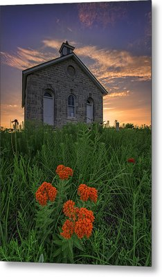 Sunset At Lower Fox Creek Schoolhouse Metal Print by Rick Berk