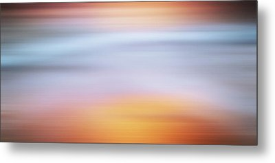 Sunset Bliss Contemporary Abstract Metal Print by Georgiana Romanovna