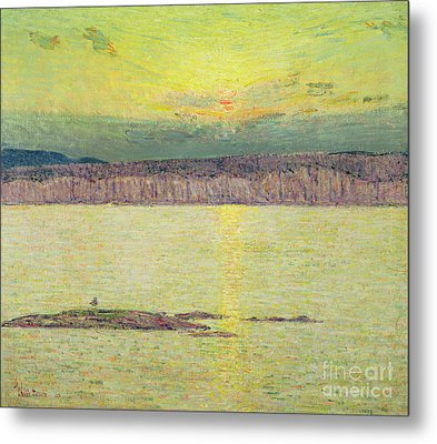 Sunset Metal Print by Childe Hassam
