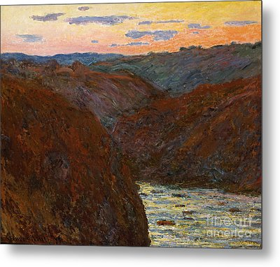 Sunset Metal Print by Claude Monet