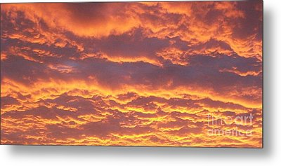 Sunset Clouds After The Storm Metal Print by Marsha Heiken