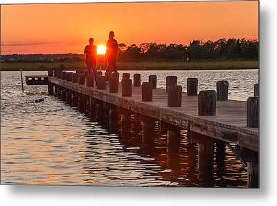 Sunset Couple Metal Print by Kristopher Schoenleber