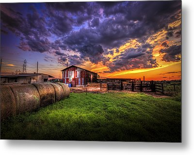Sunset Dairy Metal Print by Marvin Spates