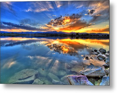 Sunset Explosion Metal Print by Scott Mahon