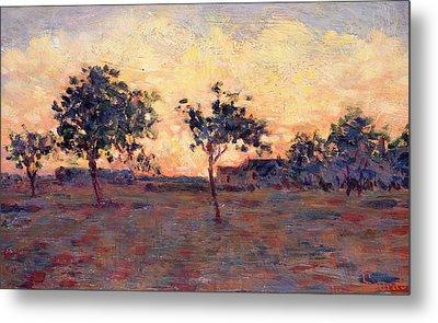 Sunset Metal Print by Georges Pierre Seurat