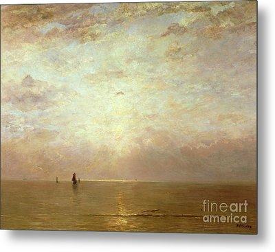 Sunset Metal Print by Hendrik William Mesdag