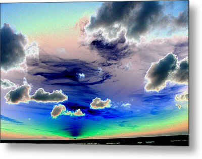 Sunset In Tampa Metal Print by Peter  McIntosh