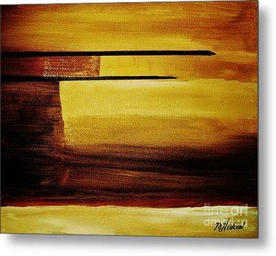 Sunset In The Desert Metal Print by Marsha Heiken