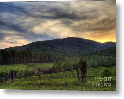 Sunset On Appleberry Mountain 2 Metal Print by Pete Hellmann
