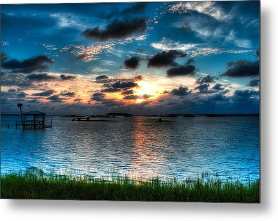 Sunset On Cedar Key Metal Print by Rich Leighton