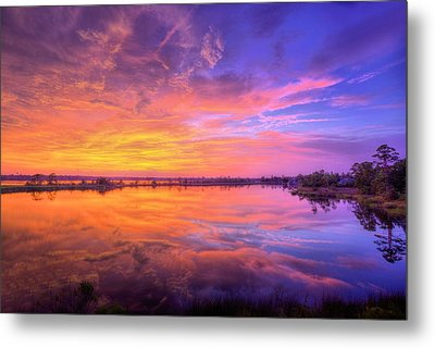 Sunset On The Black Water Metal Print by JC Findley