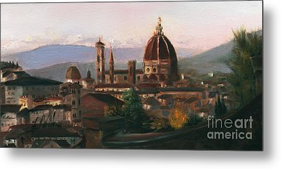 Sunset On The Duomo Metal Print by Leah Wiedemer