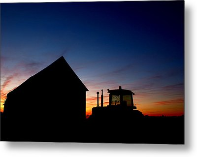 Sunset On The Farm Metal Print by Cale Best
