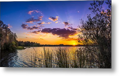 Sunset On The Lake Metal Print by Marvin Spates