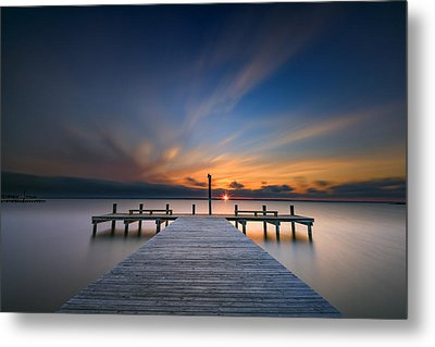 Sunset Over Barnegat Bay Metal Print by Rick Berk