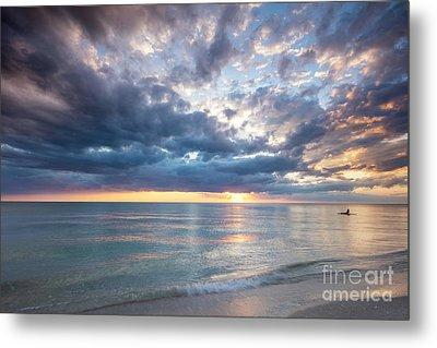 Sunset Over Naples Beach II Metal Print by Brian Jannsen