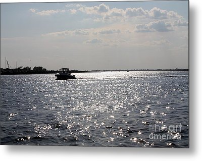 Sunset Over Reynolds Channel Metal Print by John Telfer