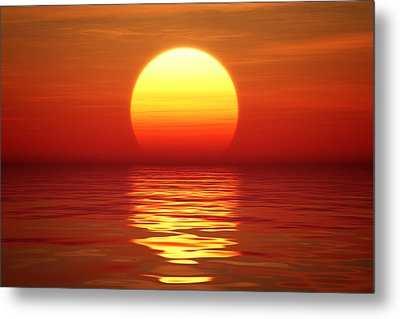 Sunset Over Tranqual Water Metal Print by Johan Swanepoel