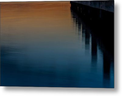 Sunset Pier Abstract Metal Print by Terry DeLuco
