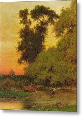 Sunset, Pompton, New Jersey Metal Print by George Inness Snr