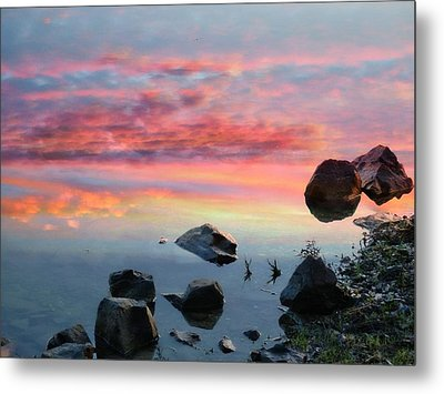 Sunset Reflection Metal Print by Marcia Lee Jones