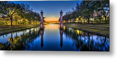 Sunset Reflection Metal Print by Marvin Spates