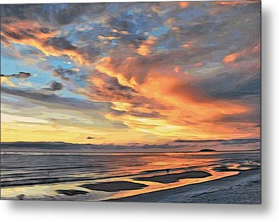 Sunset Reflections Metal Print by Alexandre Ivanov