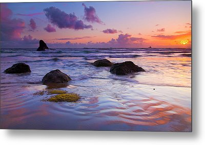 Sunset Ripples Metal Print by Mike  Dawson