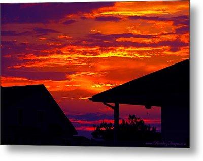 Sunset Va 4736 Metal Print by PhotohogDesigns