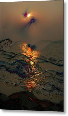 Sunsets Colorful Kisses Metal Print by Julie Lueders