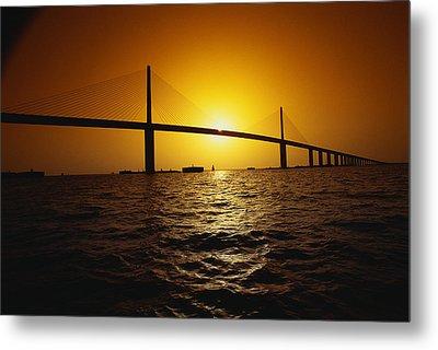 Sunshine Bridge St Petersburg Fl Metal Print by Panoramic Images
