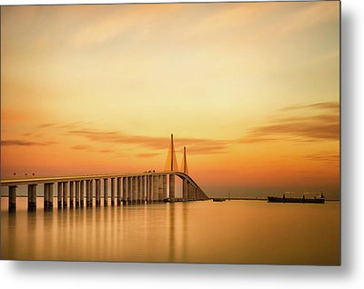 Sunshine Skyway Bridge Metal Print by G Vargas