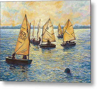 Sunwashed Sailors Metal Print by Marguerite Chadwick-Juner