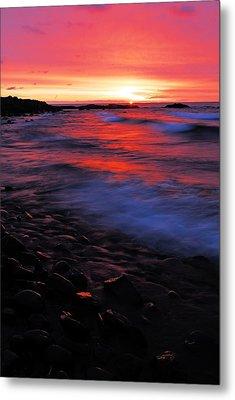 Superior Sunrise Metal Print by Larry Ricker